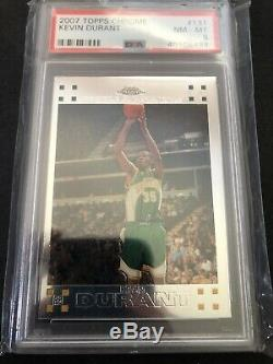 KEVIN DURANT 2007-08 Topps Chrome ROOKIE RC #131 PSA 8 NM-MT Card