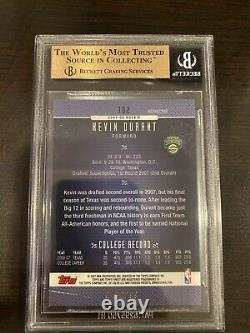 Kevin Durant 2006 Finest Blue Refractor Rc Serial #042/299 Bgs 10 (10 10 10 9.5)