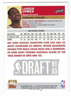 LEBRON JAMES 2003-04 TOPPS #221 ROOKIE RC Cleveland Cavaliers LA Lakers