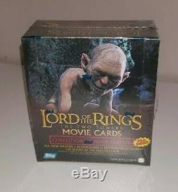 LOTR The Two Towers Update Edition Trading Cards Sealed Box (Topps 2002)