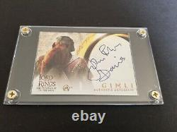 Lord Of The Rings John Rhys-Davies autograph trading card Topps 2001 ULTRA RARE
