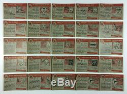 Lot of 129 Vintage Topps World On Wheels Trading Cards 1953