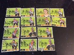 Lot of 138 TOPPS TCG 1967-1968 NHL NATIONAL HOCKEY LEAGUE TRADING CARDS