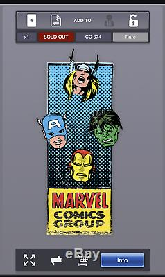 Marvel Collect Topps Digital Trading Card Complete Corner Boxes Set 15 cards
