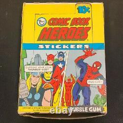 Marvel Superheroes Stickers Trading Cards Topps 1974 Full Box