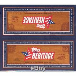 NEW Original 2009 American Heritage Topps Trading Cards 24 Pack Box Set