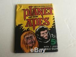 Planet Of The Apes 1968 Orig Movie Topps Trading Cards Factory Sealed Wax Pack