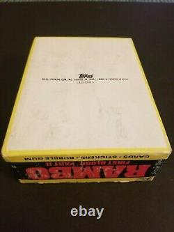 Rambo First Blood Part 2 Trading card box RARE VINTAGE CLEAN by Topps 1985