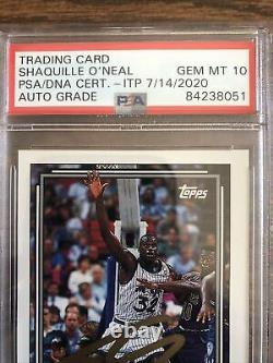 SHAQUILLE O'NEAL 1992 GOLD TOPPS SIGNED Rookie Card Shaq PSA 10 Autograph Grade