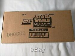 STAR WARS CHROME ARCHIVES Trading Cards Case (4) Boxes 144 Packs Factory Sealed