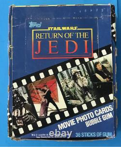Star Wars Return Of The Jedi Topps 1983 Trading Cards Unopened 36 Wax Packs Box