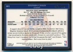 Stephen Curry 2009/10 Topps Chrome #101 Rc Rookie Golden State Warriors #352/999
