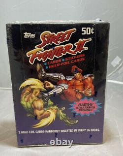 Street Fighter II 2 Topps 36ct Wax Box Factory Sealed 1993