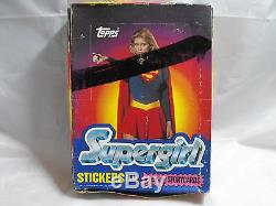 Supergirl 1984 Trading Cards And Stickers, Complete Case Of 24 Boxes