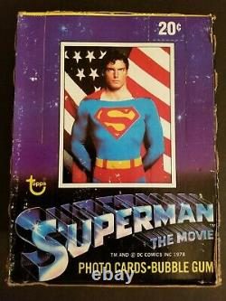 Superman The Movie Trading Cards Unopened Full Wax Box 36 Packs Topps 1978