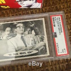 TOPPS 1966 SUPERMAN TRADING CARDS WAX BOX NIGHTLIGHT+ 5 PSA Graded Cards+Wrapper