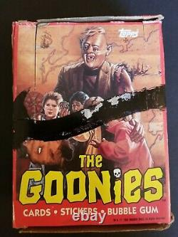 Topps 1985 movie The Goonies Trading Cards Wax Full Box Unopened 36 Wax Packs