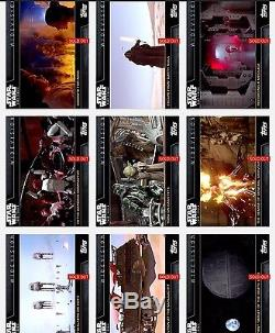 Topps Star Wars Digital Card Trader 18 Card FA Green Motion Picture Insert Set