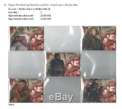 Topps The Walking Dead -Survival Box Trading Cards set