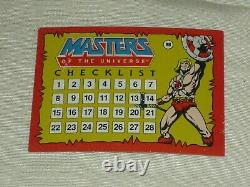 Vintage 1984 Topps Masters Of The Universe He-man Complete Trading Card Set 1-88