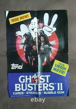 Vintage 1989 Topps Ghostbusters II Movie Trading Cards Box 36 Packs + Ad Poster
