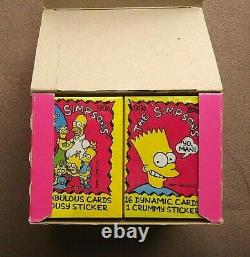 Vintage 1990 Topps The Simpsons Trading Cards Box 24 Sealed Jumbo Cello Packs