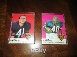 Vintage Topps NFL Trading Cards Brian Piccolo Gale Sayers Chicago Bears 1969