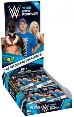 WWE Wrestling 2017 WWE Then Now Forever Trading Card Hobby Box